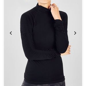 Fabletics seamless mock neck top NWT